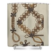 Shaker Hair Wreath Shower Curtain