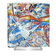 shark attack  - Challenge 2017 Find a Cure Shower Curtain