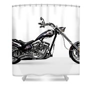 Shiny Chopper Shower Curtain