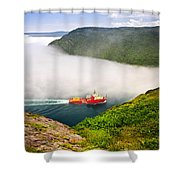 Ship Entering The Narrows Of St John's Shower Curtain