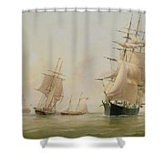 Ship Painting Shower Curtain