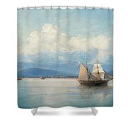 Ships Before The Caucasian Coast. Shower Curtain