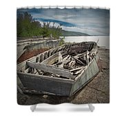 Shipwreck At Neys Provincial Park Shower Curtain