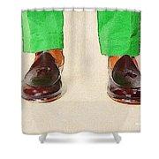 Shoe Work Shower Curtain