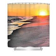 Shoreline Sunset Shower Curtain