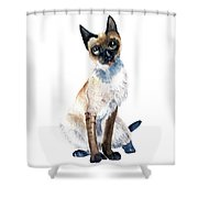 Siamese Cat Painting Shower Curtain