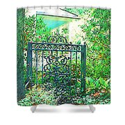 Side Gate Shower Curtain