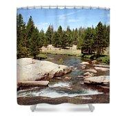 Sierra Nevada Mountain Stream Shower Curtain
