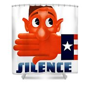 Silence Means Security Shower Curtain