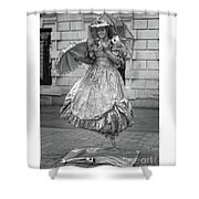 Human Statue - Black And White Shower Curtain