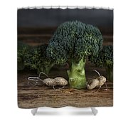Simple Things - Man And Dog Shower Curtain