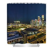 Singapore Cityscape At Night Shower Curtain