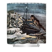 Sinking Of The Titanic Shower Curtain by Granger
