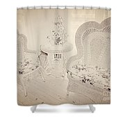 Sit A While Shower Curtain
