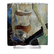 Sitting Girl  Shower Curtain