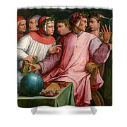 Six Tuscan Poets Shower Curtain