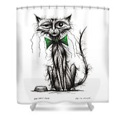 Skinny Cat Shower Curtain