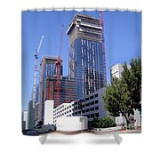 skyscraper construction in Downtown Los Angeles... Shower Curtain