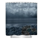 Slack Tide On The Jetty Shower Curtain