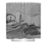 Sleeping Nude Shower Curtain