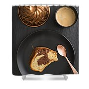Slice Of Marble Cake Shower Curtain