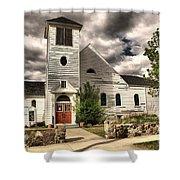Small Town Church Shower Curtain
