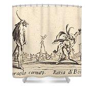 Smaralo Cornuto And Ratsa Di Boio Shower Curtain