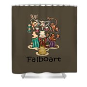 Smoking Belly Dancers Shower Curtain