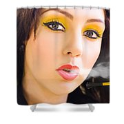 Smoking Shower Curtain