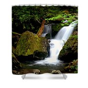 Smoky Mountain Falls Shower Curtain