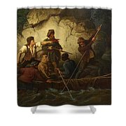 Smuggler In A Boat Shower Curtain