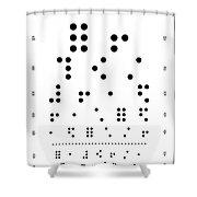 Snellen Chart - Braille Shower Curtain