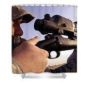 Sniper Shower Curtain