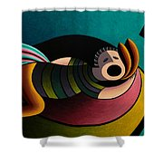Snoring Shower Curtain