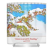 Snow-covered Conifer Shower Curtain