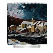 Snow In Chassepierre Shower Curtain