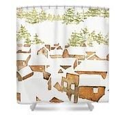 Snow Town Shower Curtain