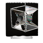 Soap Films On A Cube Shower Curtain