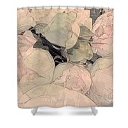 Soft Pink Peonies Shower Curtain