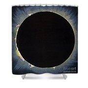 Solar Eclipse, 1860.  Shower Curtain by Granger