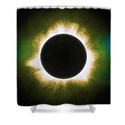 Solar Eclipse In Infrared Shower Curtain