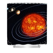 Solar System Shower Curtain by Stocktrek Images