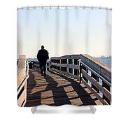 Solitary Man Walks Shower Curtain