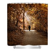 Solitary Stroll Shower Curtain
