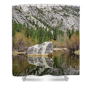 Some Beautiful Scene Of The Famous Mirror Lake Of Yosemite Shower Curtain