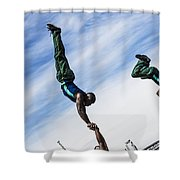 South African Street Acrobats  Shower Curtain