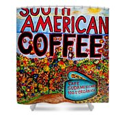 South American Coffee Shower Curtain