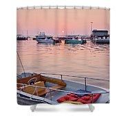 Southwest Harbor Sunrise Shower Curtain