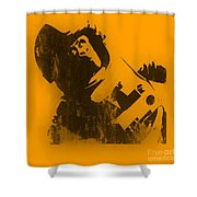 Space Ape Shower Curtain by Pixel Chimp