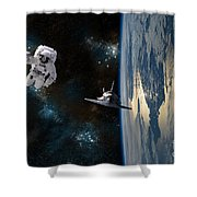 Space Rescue Shower Curtain